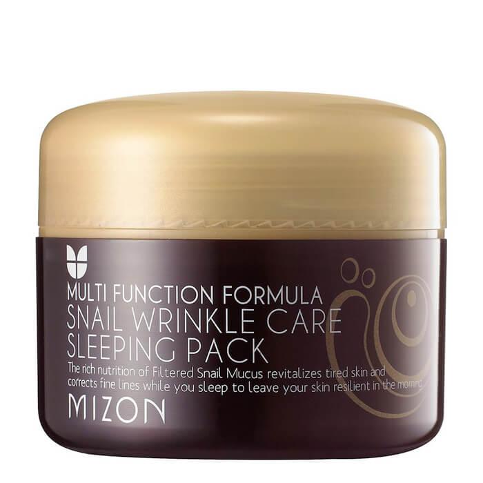 Купить Ночная маска Mizon Snail Wrinkle Care Sleeping Pack, Антивозрастная ночная маска для лица с экстрактом улиточной слизи, Южная Корея