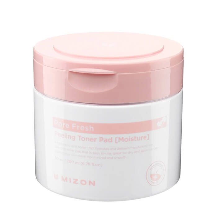 Купить Очищающие диски Mizon Pore Fresh Peeling Toner Pad Moisturizing, Отшелушивающие диски для увлажнения и смягчения кожи лица, Южная Корея