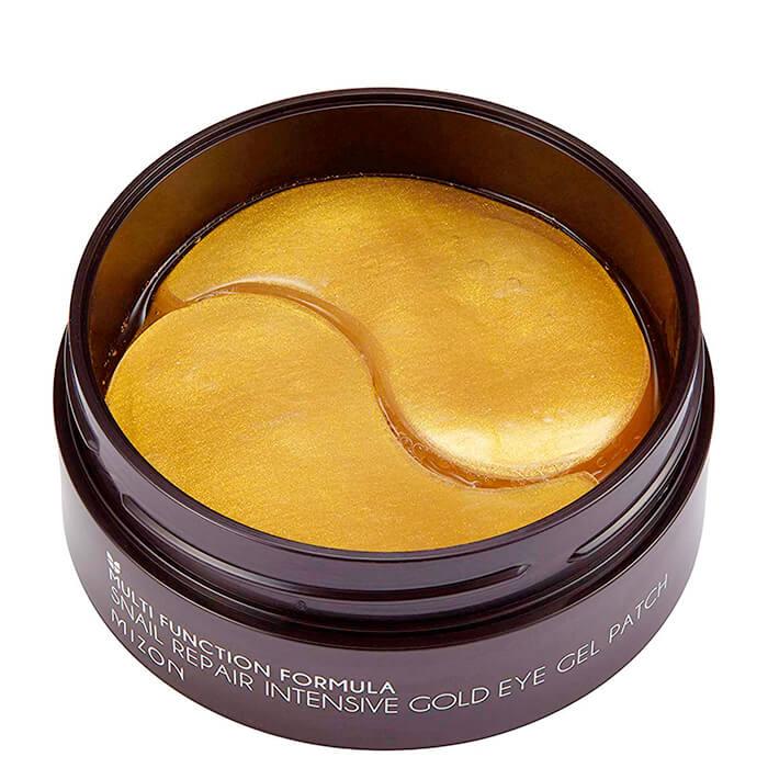 Купить Патчи для век Mizon Snail Repair Intensive Gold Eye Gel Patch, Гидрогелевые патчи для век с улиточным муцином и коллоидным золотом, Южная Корея