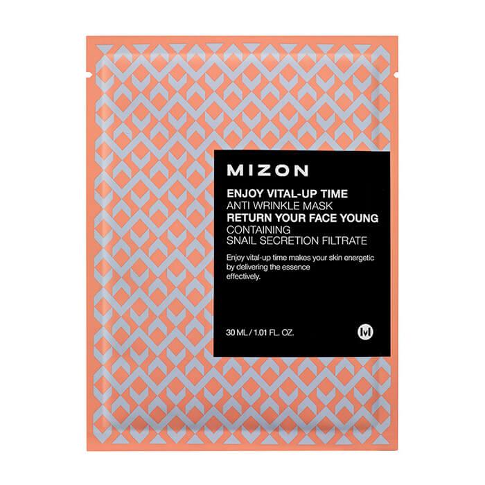 Купить Тканевая маска Mizon Enjoy Vital-Up Time Anti Wrinkle Mask, Тканевая маска для разглаживания морщин на лице, Южная Корея
