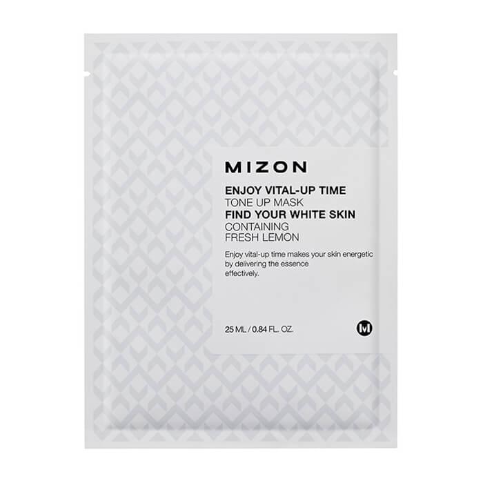 Тканевая маска Mizon Enjoy Vital-Up Time Tone Up Mask Тканевая маска для улучшения тона кожи лица фото