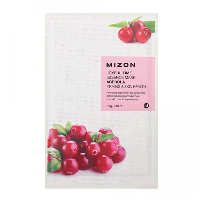 Купить Тканевая маска Mizon Joyful Time Essence Mask - Acerola, Тканевая маска для лица с экстрактом барбадосской вишни, Южная Корея