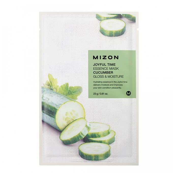 Купить Тканевая маска Mizon Joyful Time Essence Mask - Cucumber, Тканевая маска для лица с экстрактом огурца, Южная Корея