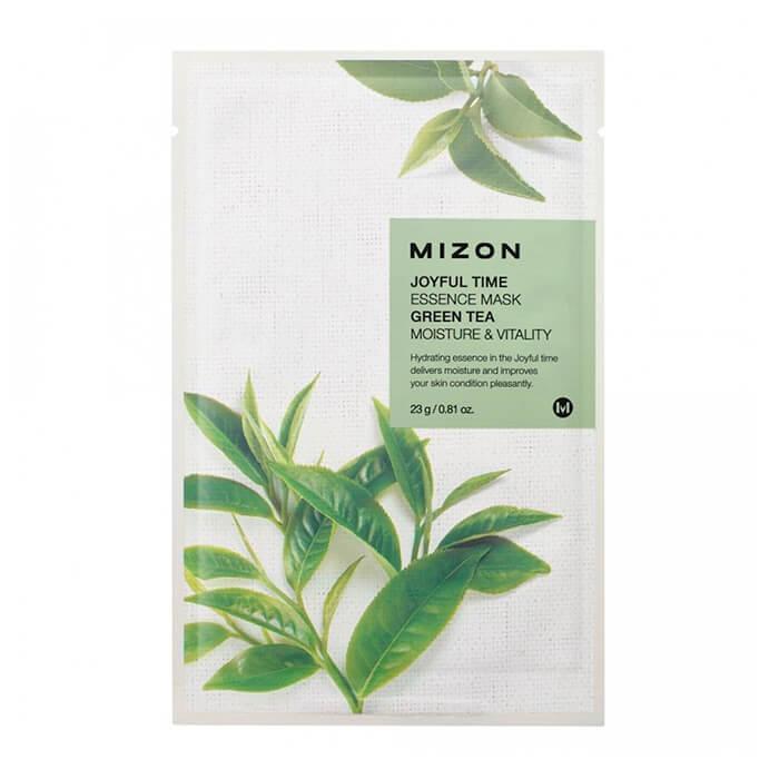 Купить Тканевая маска Mizon Joyful Time Essence Mask - Green Tea, Тканевая маска для лица с экстрактом зелёного чая, Южная Корея