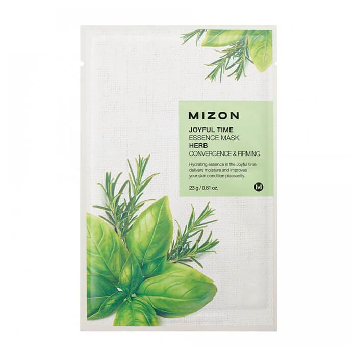 Тканевая маска Mizon Joyful Time Essence Mask - Herb Тканевая маска для лица с комплексом травяных экстрактов фото