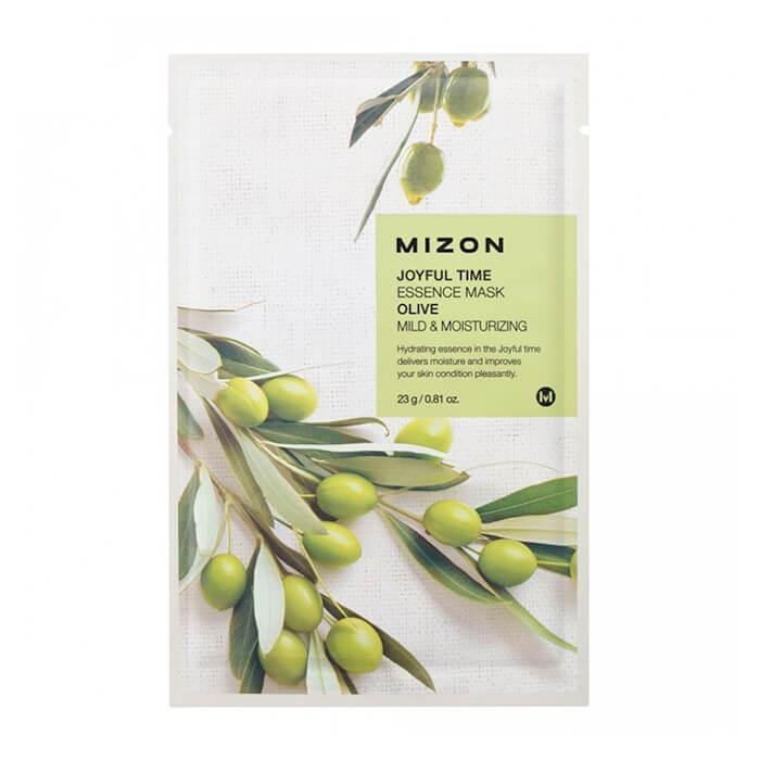 Купить Тканевая маска Mizon Joyful Time Essence Mask - Olive, Тканевая маска для лица с экстрактом плодов оливы, Южная Корея