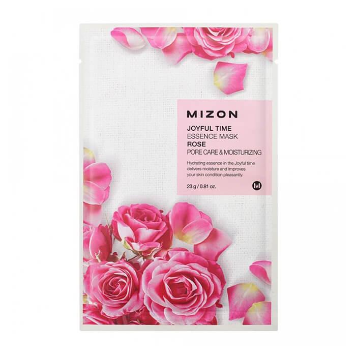 Купить Тканевая маска Mizon Joyful Time Essence Mask - Rose, Тканевая маска для лица с экстрактом лепестков розы, Южная Корея