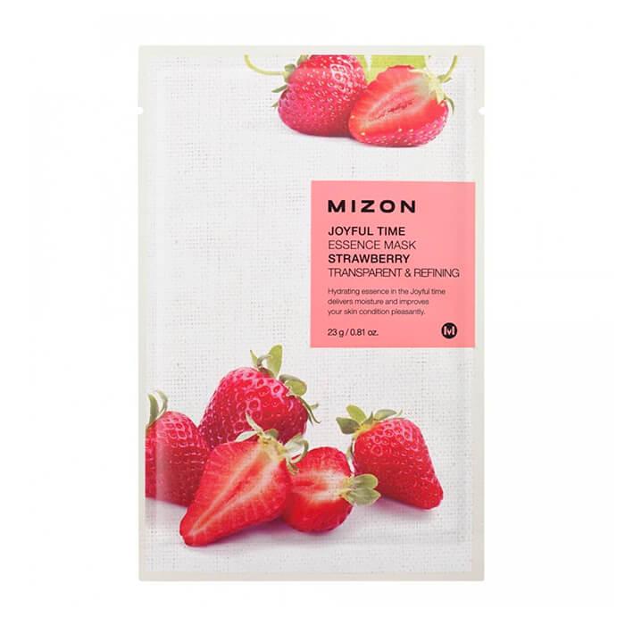 Тканевая маска Mizon Joyful Time Essence Mask - Strawberry Тканевая маска для лица с экстрактом свежей клубники фото