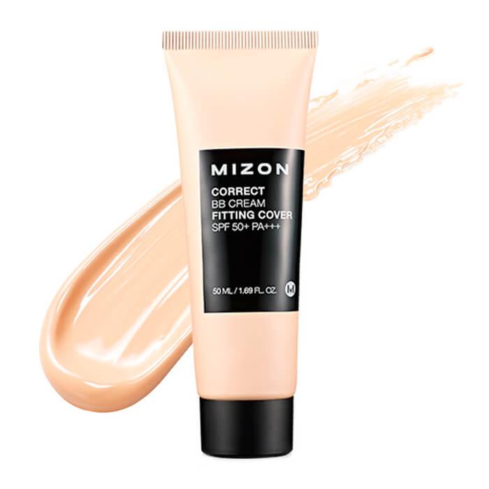 Купить ВВ крем Mizon Correct BB Cream Fitting Cover, Корректирующий ББ крем с антивозрастным и увлажняющий эффектом, Южная Корея