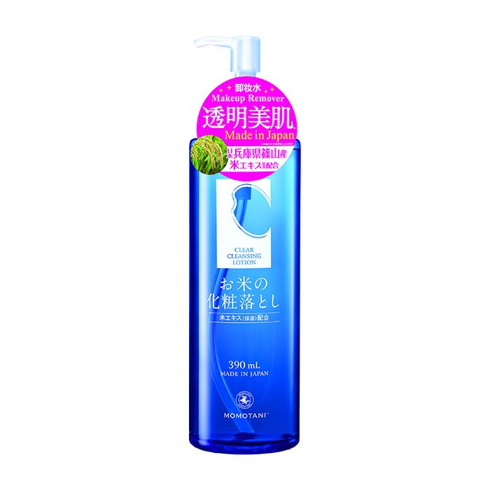 Купить Лосьон для снятия макияжа Momotani Clear Cleansing Lotion, Очищающий лосьон для снятия макияжа и увлажнения кожи лица с экстрактом риса, Япония