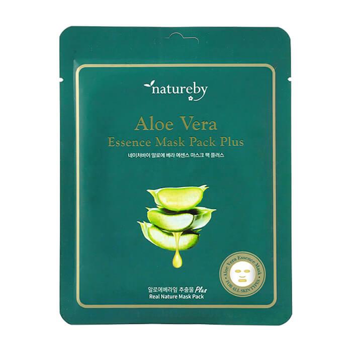 Купить Тканевая маска Natureby Aloe Vera Essence Mask Pack Plus, Тканевая маска для лица с экстрактом алоэ вера, Южная Корея
