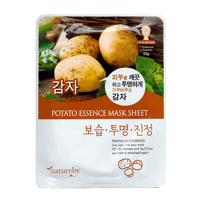 Купить Тканевая маска Natureby Potato Essence Mask Sheet, Тканевая маска для лица с экстрактом картофеля, Южная Корея