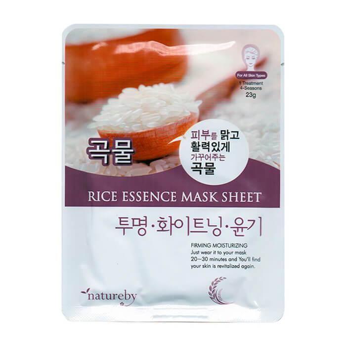 Купить Тканевая маска Natureby Rice Essence Mask Sheet, Тканевая маска для лица с экстрактом риса, Южная Корея