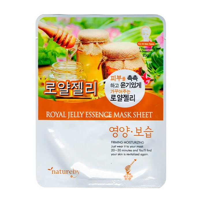 Купить Тканевая маска Natureby Royal Jelly Essence Mask Sheet, Тканевая маска для лица с экстрактом маточного молочка, Южная Корея