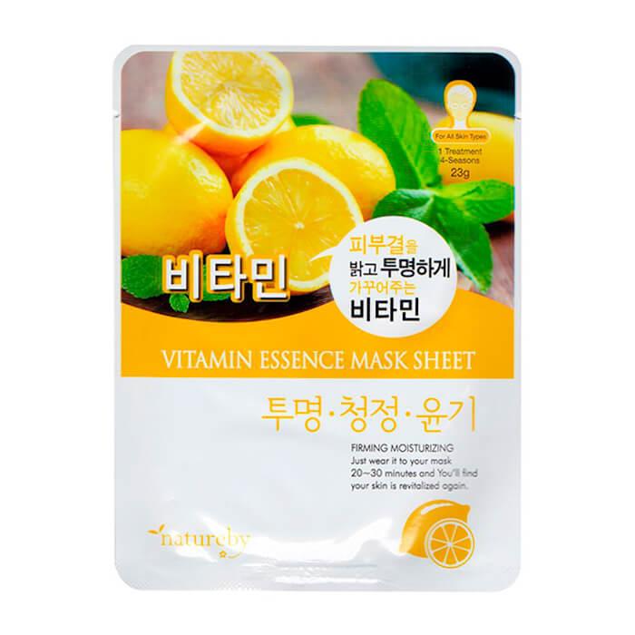 Купить Тканевая маска Natureby Vitamin Essence Mask Sheet, Тканевая маска для лица с витаминном С, Южная Корея