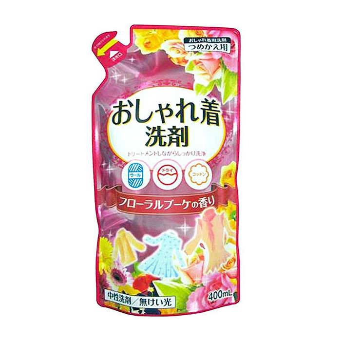 Купить Жидкое средство для стирки Nihon Detergent Oshyare Ki Senzai (400 мл), Жидкое натуральное средство для стирки деликатных тканей на основе пальмового масла, Япония