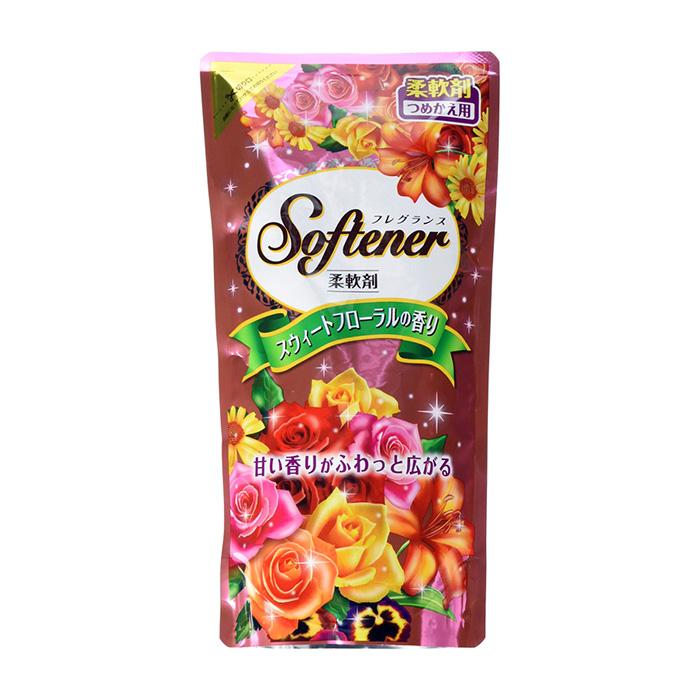 Купить Кондиционер для белья Nihon Detergent Sweet Floral Softener (500 мл), Кондиционер для мягкости и сохранения тканей со сладким цветочным ароматом, Япония