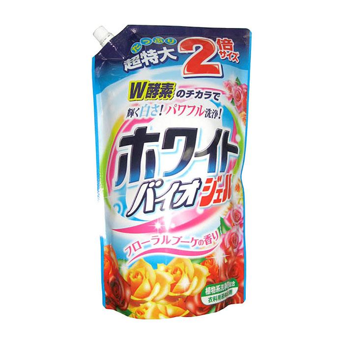 Купить Жидкое средство для стирки Nihon Detergent White Bio Gel (1, 62 кг), Жидкое средство для стирки белья с отбеливающим и смягчающим эффектами, Япония