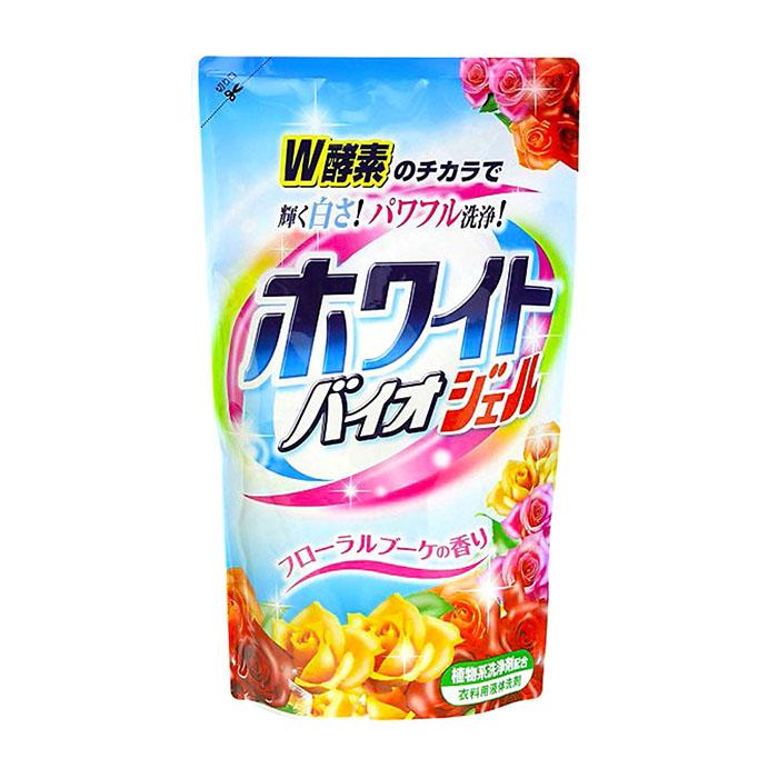 Купить Жидкое средство для стирки Nihon Detergent White Bio Gel (810 г), Жидкое средство для стирки белья с отбеливающим и смягчающим эффектами, Япония