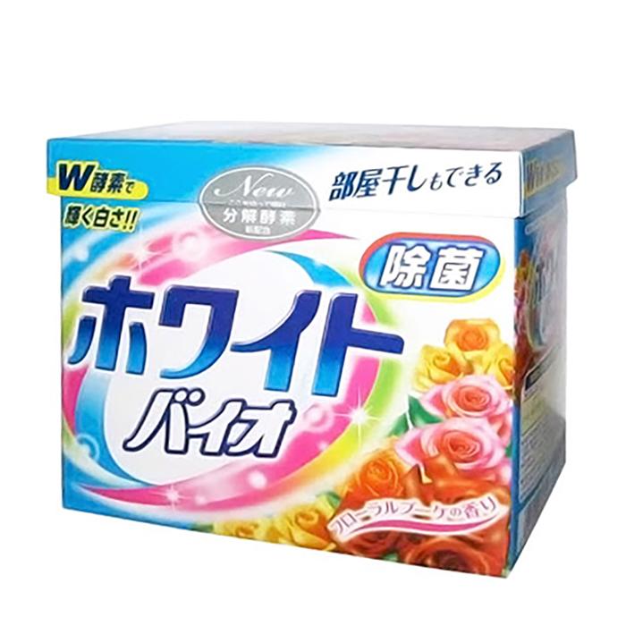 Купить Стиральный порошок Nihon Detergent White Bio (0, 8 кг), Отбеливающий стиральный порошок с кондиционером со сладким цветочным ароматом, Япония