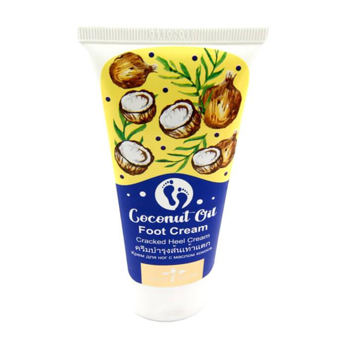 Купить Крем для ног Nina Buda Coconut Oil Foot Cream, Антибактериальный крем для ног с маслом кокоса, Таиланд