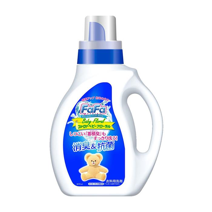Купить Детское жидкое средство для стирки Nissan FaFa Baby Floral (900 мл), Жидкое средство для стирки взрослого и детского белья без ароматизаторов и отдушек, Япония