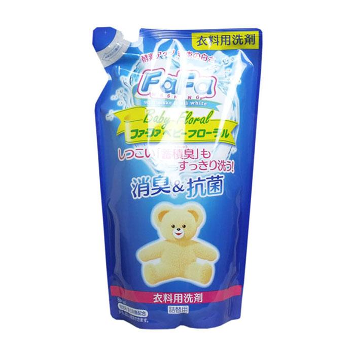 Купить Детское жидкое средство для стирки Nissan FaFa Baby Floral (800 мл, рефилл), Жидкое средство для стирки взрослого и детского белья без ароматизаторов и отдушек, Япония