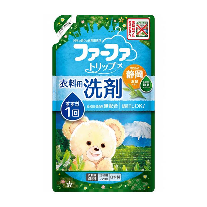 Купить Жидкое средство для стирки Nissan FaFa Shizuoka (720 мл, рефилл), Жидкое средство для стирки белья с антибактериальным эффектом и ароматом зелёного чая, Япония