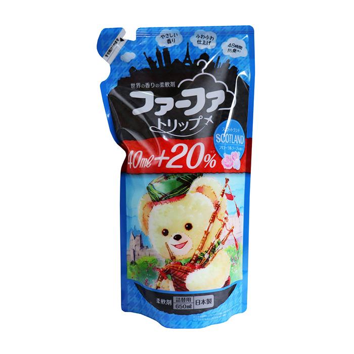 Купить Кондиционер для белья Nissan FaFa Scotland (650 мл), Кондиционер для белья с антибактериальным эффектом и ароматом цветочного мыла, Япония