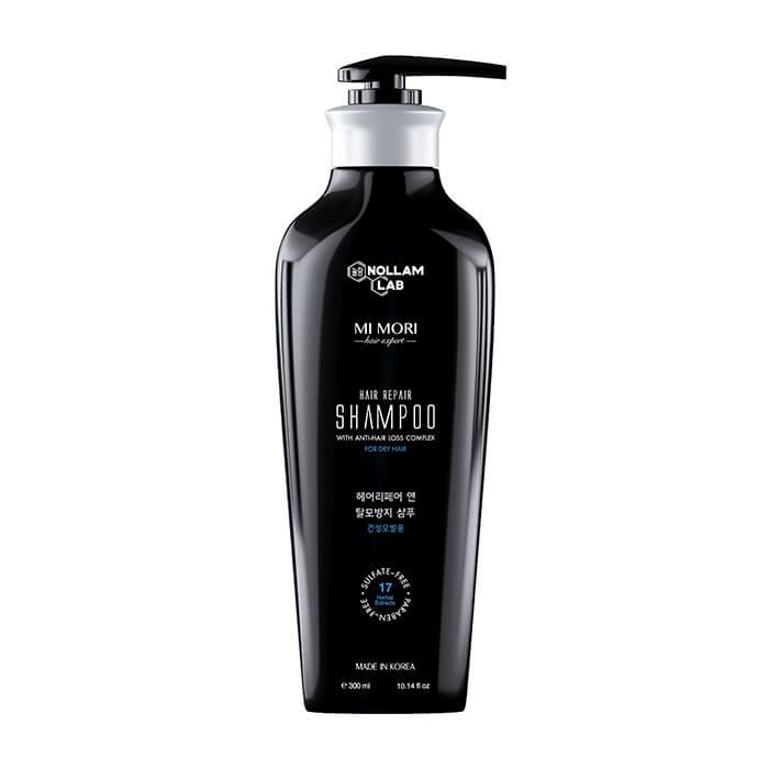 Купить Шампунь для волос Nollam Lab Hair Repair Shampoo For Dry Hair, Бессульфатный шампунь для сухой кожи головы с комплексом от выпадения волос, Южная Корея
