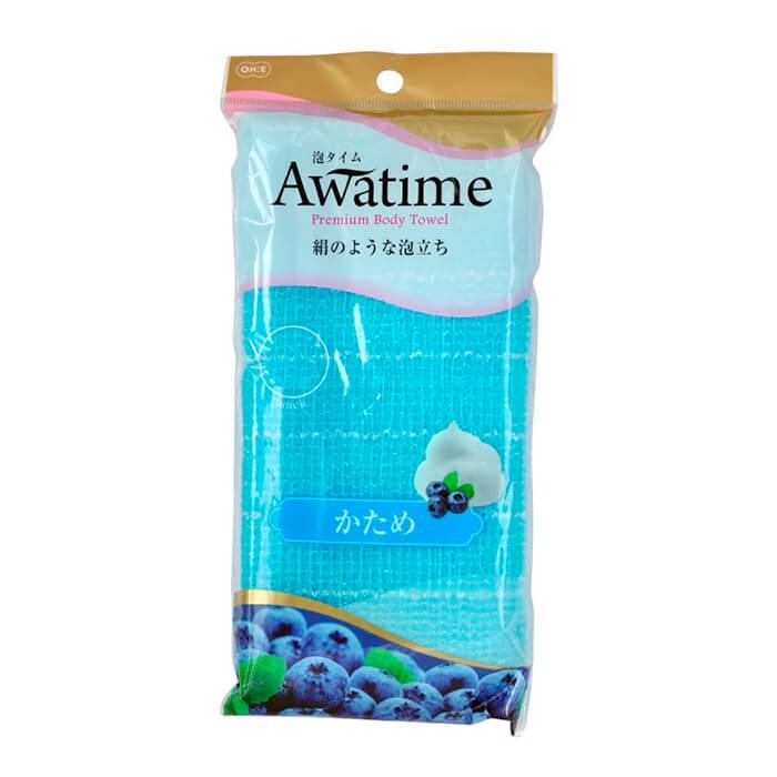 Купить Мочалка для душа ОН:Е Awa Time Body Towel Katame, Жёсткая мочалка для душа из 100% ультратонкого нейлона, OH:E, Япония