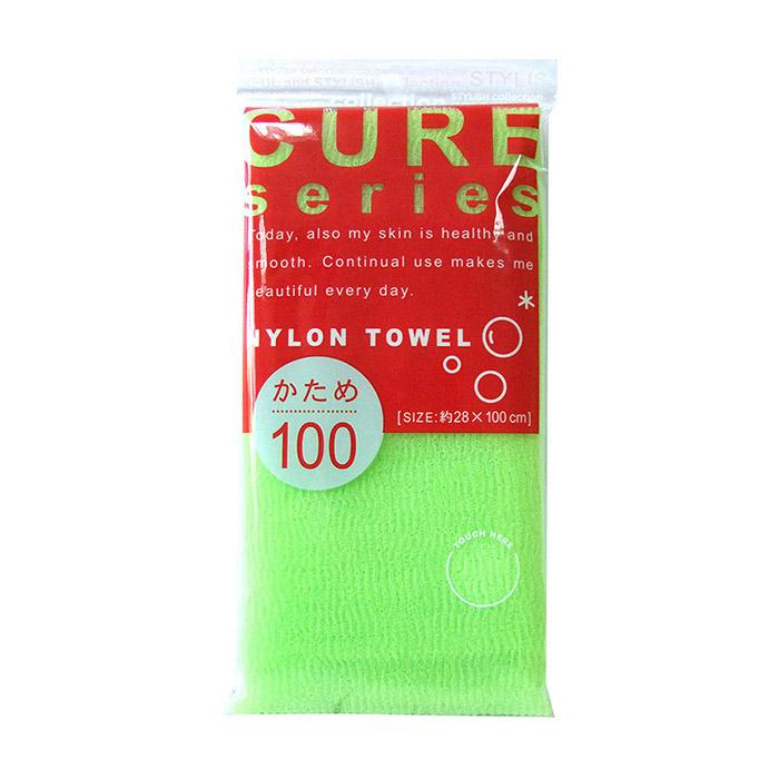 Купить Мочалка для душа ОН:Е Cure Nylon Towel Hard (Green), Жесткая мочалка для душа из 100% ультратонкого нейлона, OH:E, Япония