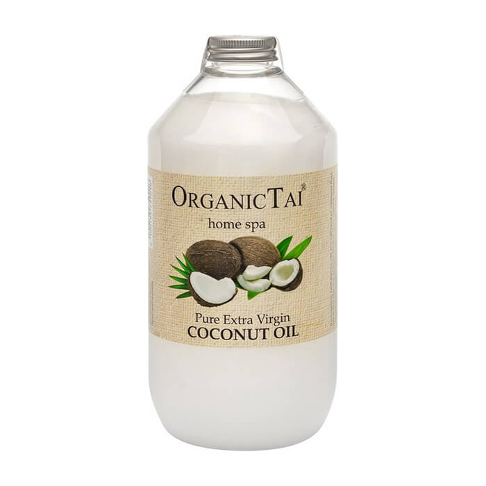 Купить Кокосовое масло Organic Tai Pure Extra Virgin Coconut Oil (1000 мл), 100% натуральное нерафинированное кокосовое масло холодного отжима, Таиланд