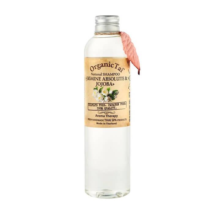 Купить Шампунь для волос Organic Tai Natural Shampoo Jasmine Absolute & Jojoba, Бессульфатный шампунь для волос на натуральной моющей основе с маслом жожоба и жасмина, Таиланд