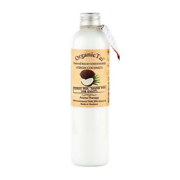 Купить Кондиционер для волос Organic Tai Natural Balm-Conditioner Virgin Coconut, Бессульфатный бальзам-кондиционер для волос с кокосовым маслом, Таиланд