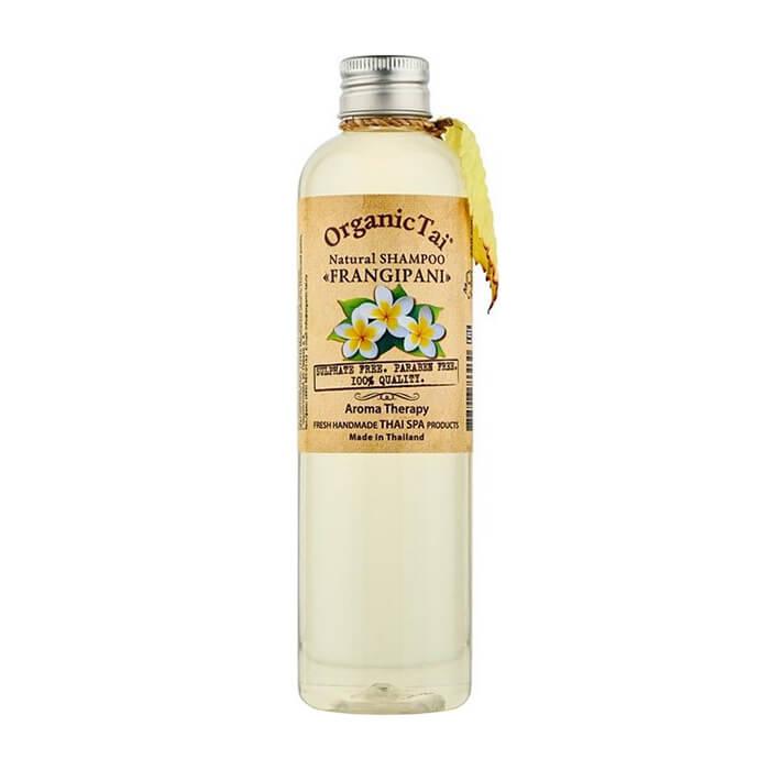 Купить Шампунь для волос Organic Tai Natural Shampoo Frangipani (260 мл), Бессульфатный шампунь для волос на натуральной моющей основе с маслом франжипани, Таиланд