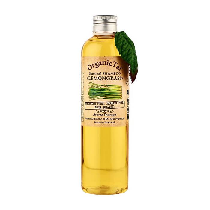 Шампунь для волос Organic Tai Natural Shampoo Lemongrass Бессульфатный шампунь для волос на натуральной моющей основе с маслом лемонграсса фото