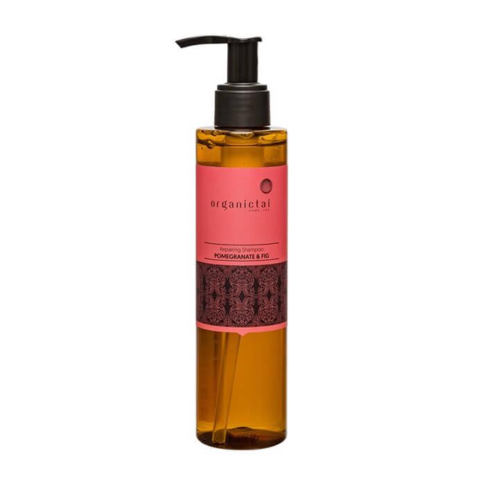 Купить Шампунь для волос Organic Tai Repairing Shampoo Pomegranate & Fig, Восстанавливающий бессульфатный шампунь для волос с гранатом и инжиром, Таиланд
