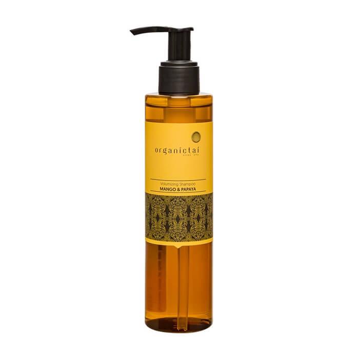Купить Шампунь для волос Organic Tai Volumizing Shampoo Mango & Papaya, Бессульфатный шампунь для объёма и блеска волос с манго и папайей, Таиланд