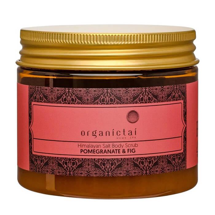 Купить Скраб для тела Organic Tai Himalayan Salt Body Scrub Pomegranate & Fig, Скраб для тела на основе гималайской соли с экстрактом граната и инжира, Таиланд