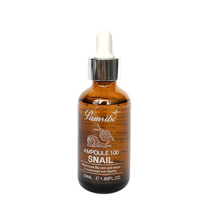 Купить Сыворотка для лица Pams Ampoule 100 Snail, Универсальная сыворотка для кожи лица с муцином улитки, Южная Корея