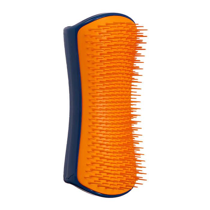 Расческа для собак Pet Teezer Detangling & Dog Grooming Brush Navy & Orange Синяя расческа для распутывания шерсти собак фото