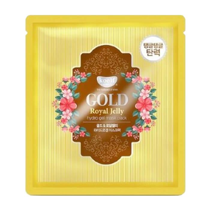 Купить Гидрогелевая маска Koelf Gold & Royal Jelly Hydrogel Mask Pack, Гидрогелевая маска для лица с золотом и маточным молочком, Южная Корея