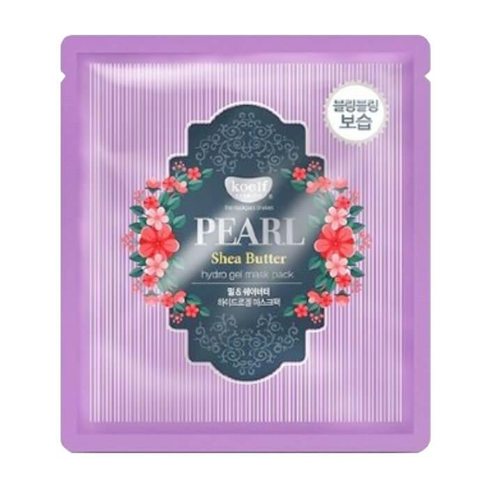 Купить Гидрогелевая маска Koelf Pearl & Shea Butter Hydrogel Mask Pack, Гидрогелевая маска для лица с маслом ши и жемчужной пудрой, Южная Корея