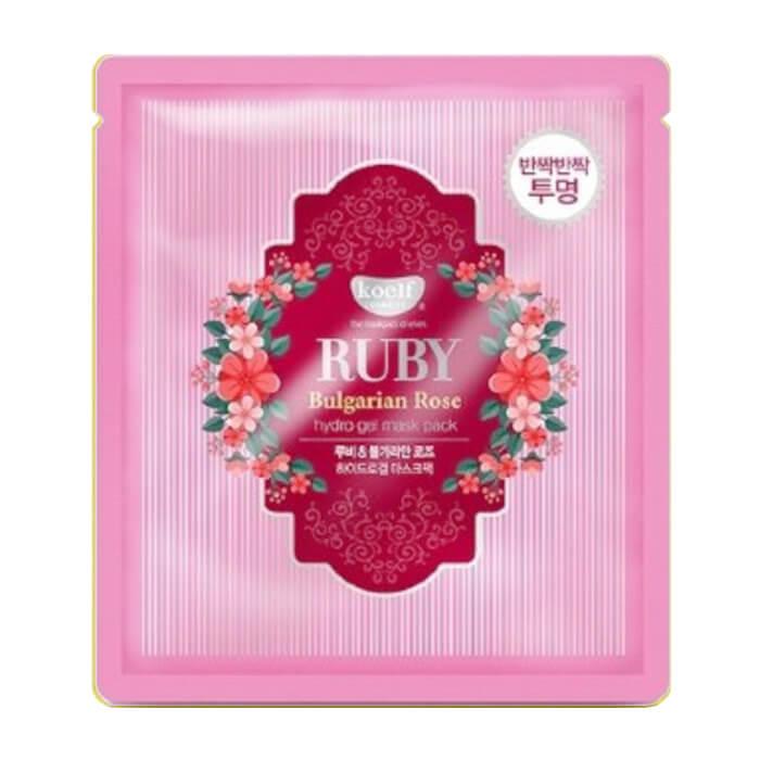 Купить Гидрогелевая маска Koelf Ruby & Bulgarian Rose Hydrogel Mask Pack, Гидрогелевая маска с экстрактом болгарской розы и рубиновой пудрой, Южная Корея