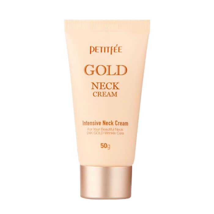 Купить Крем для шеи Petitfee Gold Neck Cream, Антивозрастной крем для шеи с частицами золота, Южная Корея