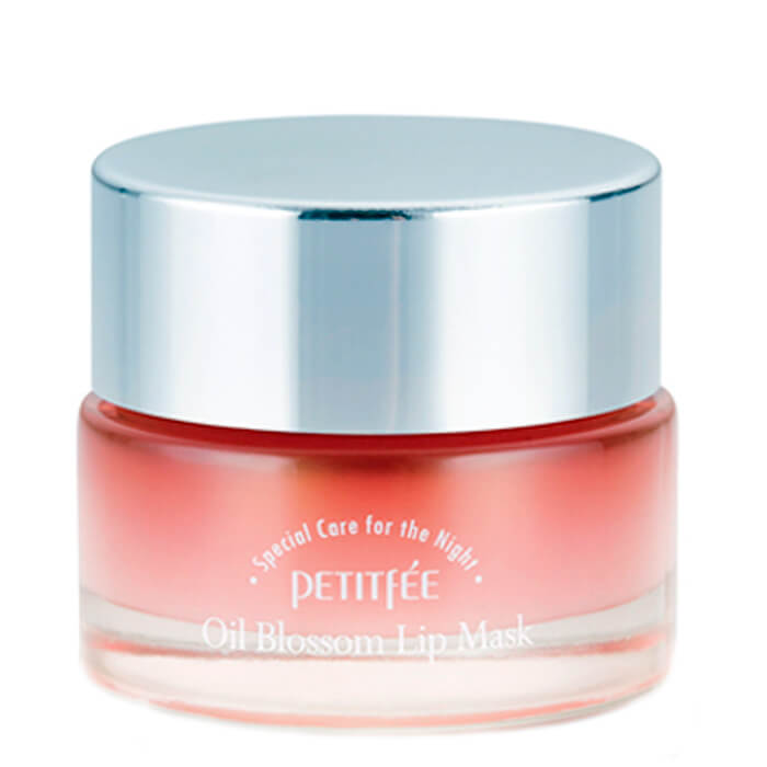 Купить Маска для губ Petitfee Oil Blossom Lip Mask - Camellia Seed Oil, Увлажняющая ночная маска для губ с маслом камелии, Южная Корея
