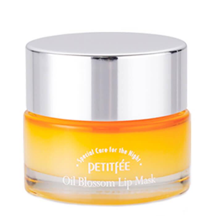 Купить Маска для губ Petitfee Oil Blossom Lip Mask - Sea Buckthorn Oil, Ночная маска для губ с облепиховым маслом и витамином Е, Южная Корея