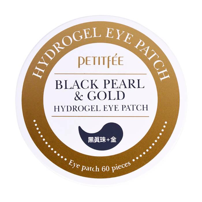 Купить Патчи для глаз Petitfee Black Pearl & Gold Hydrogel Eye Patch, Гидрогелевые патчи для век с экстрактом чёрного жемчуга и био-частицами золота, Южная Корея