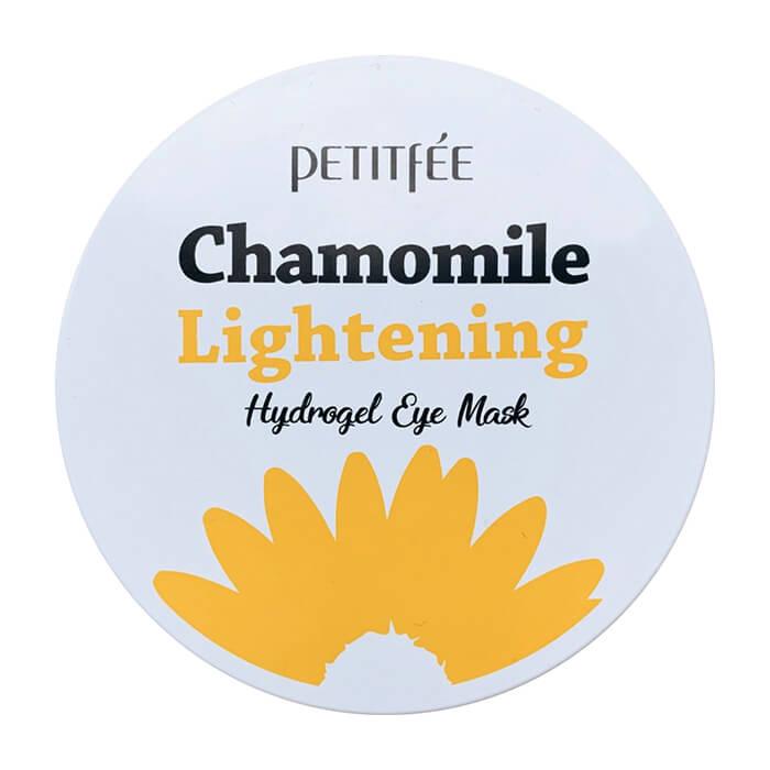 Купить Патчи для глаз Petitfee Chamomile Lightening Hydrogel Eye Patch, Гидрогелевые патчи для глаз с экстрактом ромашки, Южная Корея
